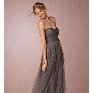 Worn 1x!!! Jenny Yoo 'Annabelle' Gown Charcoal